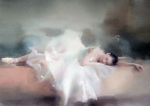 Художник Liu Yi. Акварель пятая