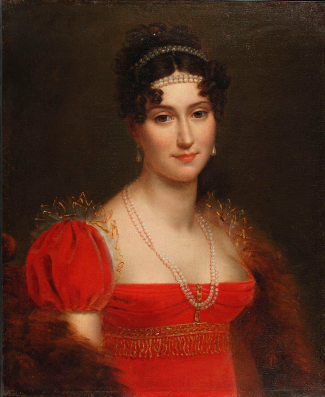 Eglee Auguie (Mrs.Michel) Ney, PrincessMoskowa, Duchess of Elchingen (1782-1856)Francois Baron Gerard (1770-1837)1808Oil on canvasAlbany Institute of History & Art, Bequest of George Clinton Genet, 1911.2.3.2