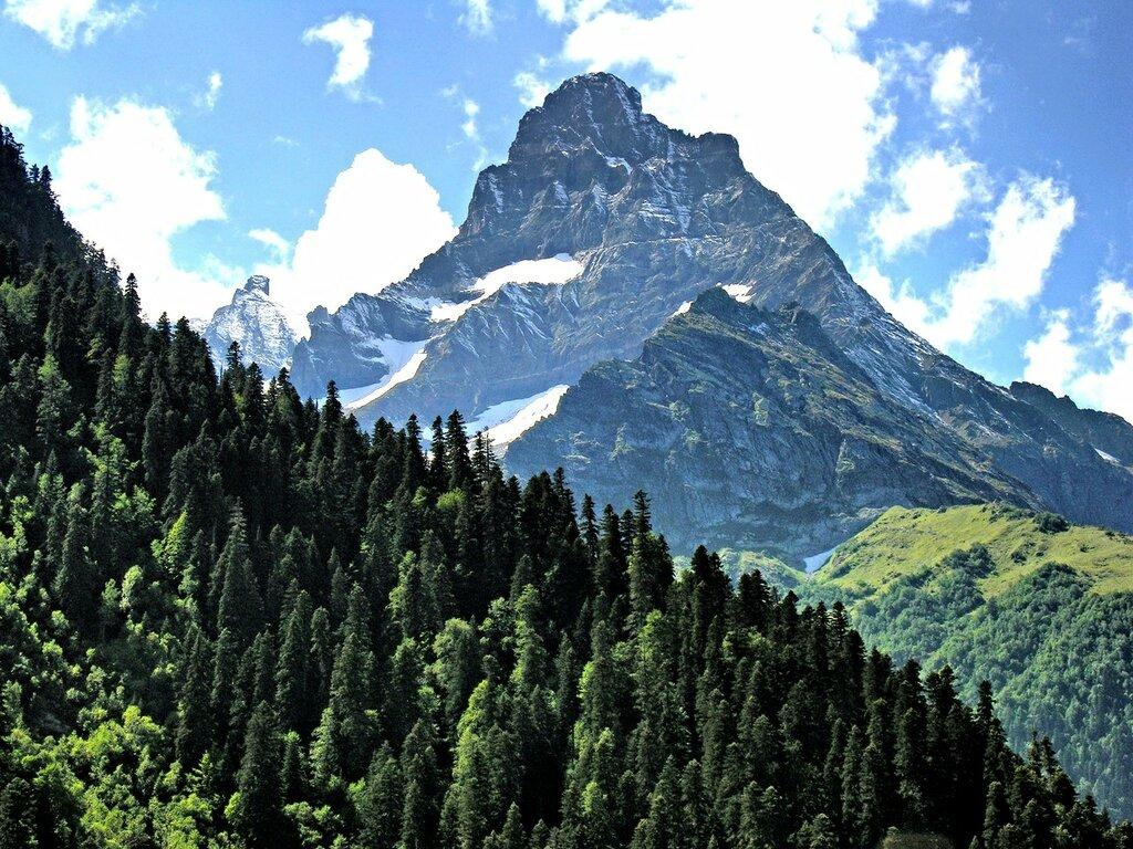 Кавказские горы. Домбай