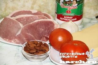 """Миндальная свинина с помидорами """"Любительская"""""""