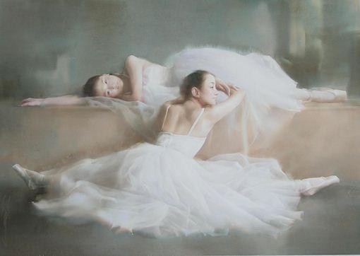 Художник Liu Yi. Акварель вторая