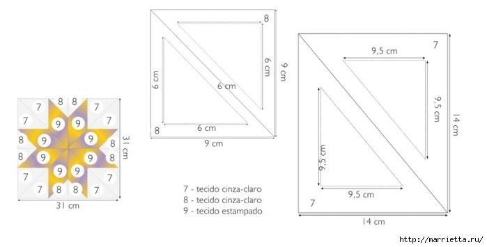 Пэчворк. Шьем сами покрывало и наволочки для подушек (6) (700x355, 70Kb)