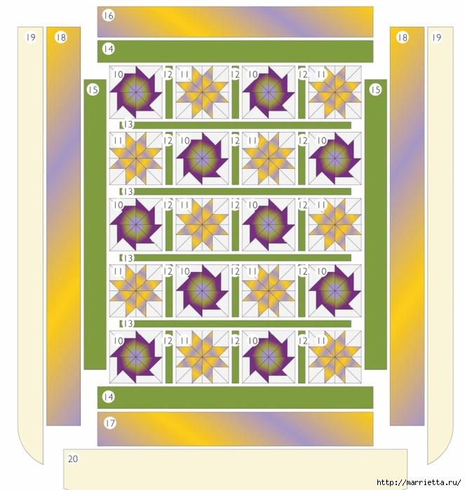 Пэчворк. Шьем сами покрывало и наволочки для подушек (3) (663x700, 260Kb)