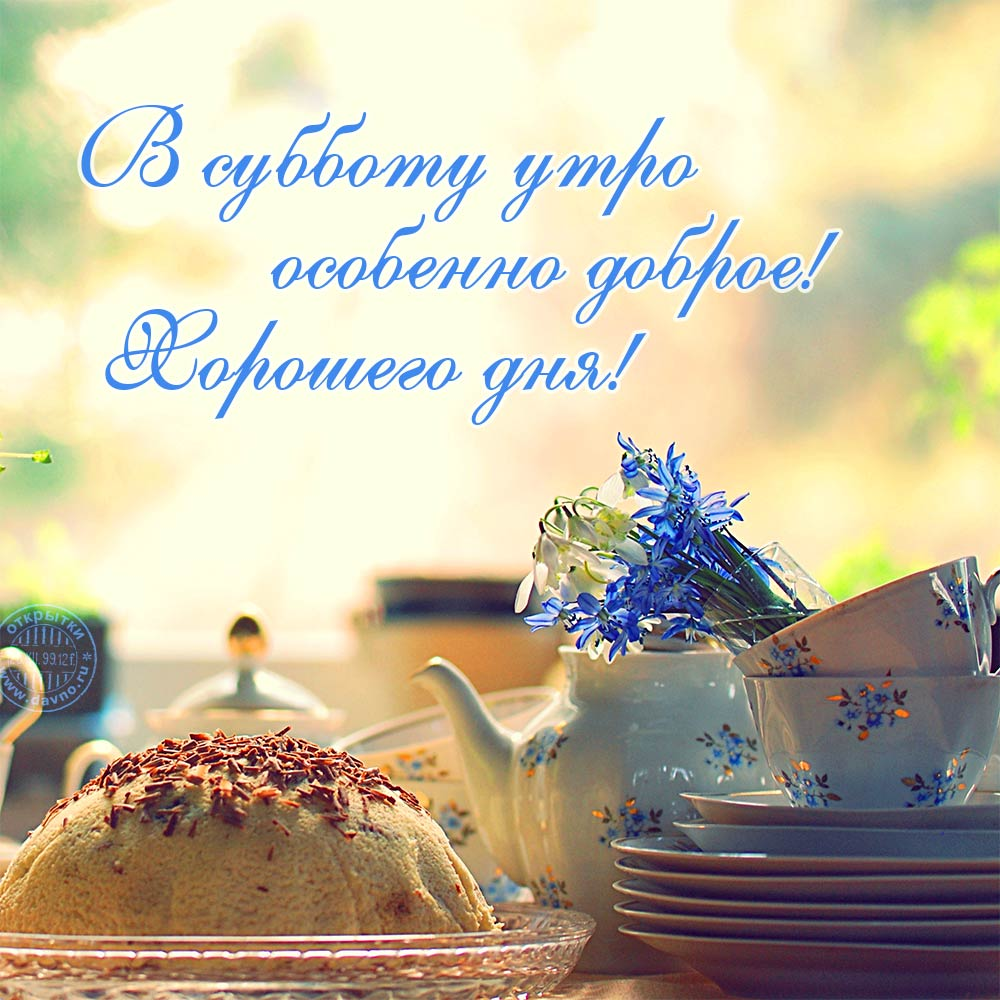 В субботу утро особенно доброе! Хорошего дня!