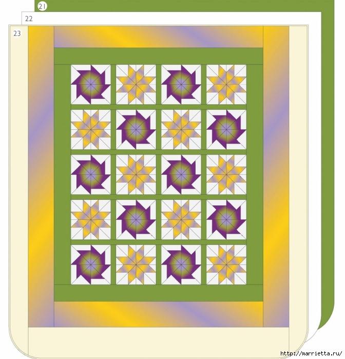 Пэчворк. Шьем сами покрывало и наволочки для подушек (1) (672x700, 248Kb)
