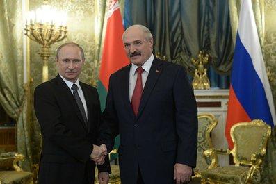 С Президентом Белоруссии Александром Лукашенко.