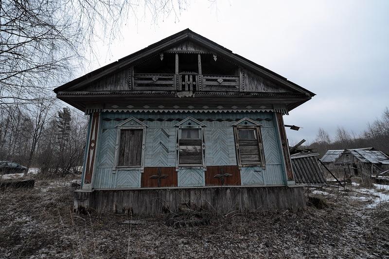 Дома Русского Севера вологодская область, деревня, заброшенное